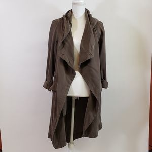 Silence + Noise Drape Coat Jacket w Zipper Detai
